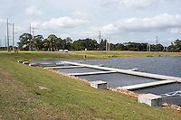 Sarasota, Florida, USA. General view of the start area at the  Nathan Benderson Park. Rowing Course for the 2017 FISA World Rowing Championships.  Thursday  27/10/2016 [Mandatory Credit; Peter SPURRIER/Intersport Images]