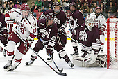 Jimmy Vesey (Harvard - 19), Mike Borkowski (Colgate - 21), Bruce Racine (Colgate - 33) -  - The Harvard University Crimson defeated the visiting Colgate University Raiders 7-4 (EN) on Saturday, February 20, 2016, at Bright-Landry Hockey Center in Boston, Massachusetts.