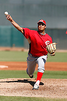 Pedro Villarreal - Cincinnati Reds 2009 Instructional League. .Photo by:  Bill Mitchell/Four Seam Images..