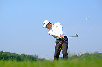 Ashun Wu (CHN) second shot on the 9th fairway during the 2nd round at the WGC HSBC Champions 2018, Sheshan Golf CLub, Shanghai, China. 26/10/2018.<br /> Picture Fran Caffrey / Golffile.ie<br /> <br /> All photo usage must carry mandatory copyright credit (&copy; Golffile | Fran Caffrey)