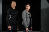 SPORT ALGEMEEN: HEERENVEEN: Sportstad Heerenveen, 21-01-2013, Fotoshoot zeilster Marit Bouwmeester en wielrenster Alyda Norbruis, ©foto Martin de Jong