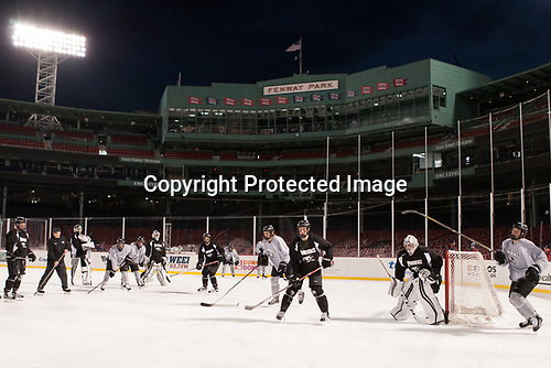 - The Providence College Friars practiced on the rink at Fenway Park on Friday, January 6, 2017.
