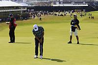 Yosuke Asaji (JPN) putts on the 1st green during Thursday's Round 1 of the 148th Open Championship, Royal Portrush Golf Club, Portrush, County Antrim, Northern Ireland. 18/07/2019.<br /> Picture Eoin Clarke / Golffile.ie<br /> <br /> All photo usage must carry mandatory copyright credit (© Golffile | Eoin Clarke)