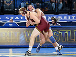 BROOKINGS, SD - NOVEMBER 17: David Kocer from South Dakota State controls Chris Pfarr from the University of Minnesota during their 174 pound match Friday evening at First Arena in Brookings, SD.  (Photo by Dave Eggen/Inertia)