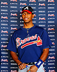 13 March 2010: The Atlanta Braves introduce shortstop prospect Edward Salcedo after signing a free-agent contract. The Dominican Republic native is considered one of the top players in this year's international free-agent class. Salcedo then took in the Spring Training game against the Toronto Blue Jays at Champion Stadium in the ESPN Wide World of Sports Complex in Orlando, Florida. The Blue Jays shut out the Braves 3-0 in Grapefruit League action. Mandatory Credit: Ed Wolfstein Photo