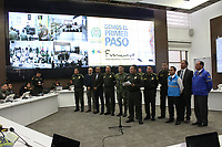 BOGOTA -COLOMBIA , 29- 8-2017. Con la presencia del Director de La Policia de Colombia General Jorge Hernando Nieto Roa , en la sala estratégica de la institución  se puso en marcha el dispositivo de seguridad para recibir al papa Francisco , un total un total de 30.342 uniformados de la policia custodiarán las ciudades donde el papa hará presencia./ With the presence of the Director of the Police of Colombia Gen. Jorge Hernado Nieto Roa the security device was launched to receive Pope Francisco, a total of 30,342 police uniforms will guard the cities where the pope will be present . Photo: VizzorImage / Felipe Caicedo / Staff