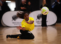 Action from international women's futsal match between the NZ Futsal Ferns and New Caledonia at Baypark Arena in Mount Maunganui, New Zealand on Thursday, 14 September 2017. Photo: Dave Lintott / lintottphoto.co.nz