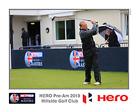 during the Hero Pro-am at the Betfred British Masters, Hillside Golf Club, Lancashire, England. 08/05/2019.<br /> Picture Fran Caffrey / Golffile.ie<br /> <br /> All photo usage must carry mandatory copyright credit (&copy; Golffile | Fran Caffrey)