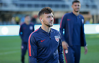 WASHINGTON D.C. - OCTOBER 11: Paul Arriola #7 of the United States during warm ups prior to their Nations League game versus Cuba at Audi Field, on October 11, 2019 in Washington D.C.