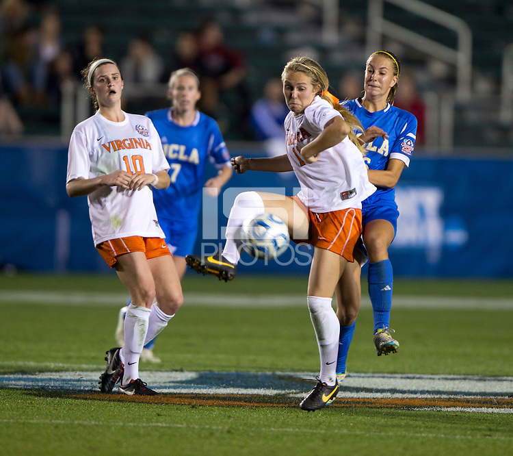 Brittany Ratcliffe, Sarah Killion. UCLA advanced on penalty kicks after defeating Virginia, 1-1, in regulation time at the NCAA Women's College Cup semifinals at WakeMed Soccer Park in Cary, NC.