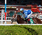 McErin (no. 5) wins Race 2, Sep. 3, 2018 at the Saratoga Race Course, Saratoga Springs, NY.  Ridden by Irad Ortiz., and trained by Jason Servis, McErin finished 5 1/2 lengths in front of All Clear (no. 3).  (Bruce Dudek/Eclipse Sportswire)