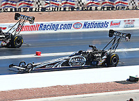 Mar 30, 2014; Las Vegas, NV, USA; NHRA top fuel driver Shawn Langdon during the Summitracing.com Nationals at The Strip at Las Vegas Motor Speedway. Mandatory Credit: Mark J. Rebilas-