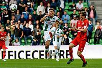 GRONINGEN - Voetbal, FC Groningen - FC Twente, Eredivisie, seizoen 2019-2020, 10-08-2019, FC Groningen speler Ritsu Doan in duel met Peet Bijen