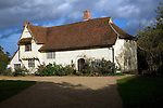 Valley Farm, Flatford Mill, Suffolk, England. 600 year old medieval hall.