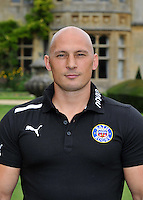 Strength and Conditioning Coach Matt Pickard poses for a portrait at the club Photocall. Bath Rugby Media Day on August 21, 2012 at Farleigh House in Bath, England. Photo by: Patrick Khachfe/Onside Images