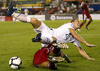 Action photo of Abby Wambach of United States. The US Women's National Team defeated Haiti 5-0 during the CONCACAF Women's World Cup Qualifying tournament at Estadio Quintana Roo in Cancun, Mexico on October 28th, 2010.