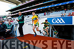 Kerry players before the Kerry v Derry in the All-Ireland Minor Footballl Final in Croke Park on Sunday.