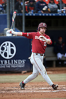Matt Winaker #21 of the Stanford Cardinal bats against the Cal State Fullerton Titans at Goodwin Field on February 19, 2017 in Fullerton, California. Stanford defeated Cal State Fullerton, 8-7. (Larry Goren/Four Seam Images)