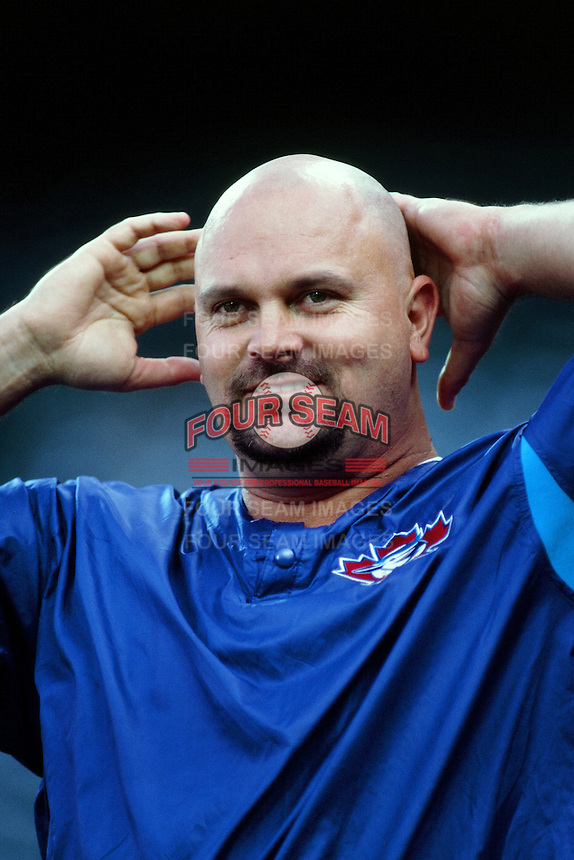 David Wells of the Toronto Blue Jays during a game against the Anaheim Angels at Angel Stadium circa 1999 in Anaheim, California. (Larry Goren/Four Seam Images)