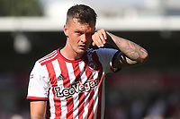 Josh McEachran of Brentford feels the heat during Brentford vs Rotherham United, Sky Bet EFL Championship Football at Griffin Park on 4th August 2018