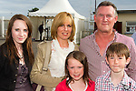 Ruth, Cristin and Ryan with parents Annette and Michael Boylan at the Bellewstown Races..Picture: Shane Maguire / www.newsfile.ie.