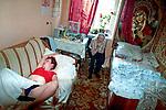 Nina Burenina in her house/ Ribaki vilage/ Moscow region