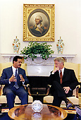 United States President Bill Clinton meets with President Leonel Fernandez of the Dominican Republic in the Oval Office of the White House in Washington, DC on June 10, 1998.<br /> Mandatory Credit: Robert McNeely / White House via CNP