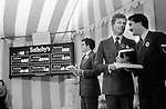Sothebys at Mentmore Towers. Sothebys auction the contents of this stately home belonging to the 7th Earl of Rosebery. 1977. Sothebys staff...