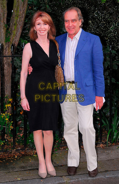 JANE ASHER & GERALD SCARF.Sir David Frost Summer Party, Carlyle Square, London, UK..July 5th, 2006.Ref: CAN.full length black dress blue suit jacket .www.capitalpictures.com.sales@capitalpictures.com.©Capital Pictures