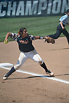 30 MAY 2016: Vanessa Carrizales (15) of University of Texas-Tyler makes a play during the Division III Women's Softball Championship held at the James I Moyer Sports Complex in Salem, VA.  University of Texas-Tyler defeated Messiah College 7-0 for the national title. Don Petersen/NCAA Photos