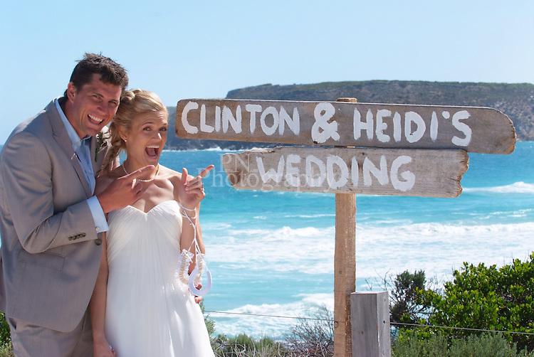 What a fun wedding Heidi and Clinton's wedding on Kangaroo Island Pennington bay South Australia