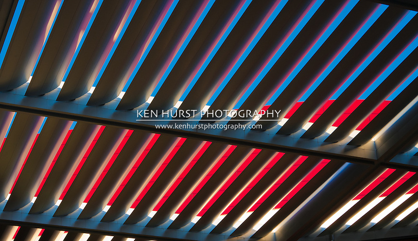 The Grand Portico, or solar canopy, shades over 3 acres surrounding the Winspear Opera House in the Dallas Arts District.