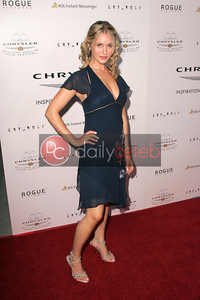 Erica Yates<br />at Chrysler Million Dollar Film Festival's VIP screening of Cry_Wolf. The Arclight Theaters, Hollywood, CA. 09-15-05<br />Dave Edwards/DailyCeleb.Com 818-249-4998