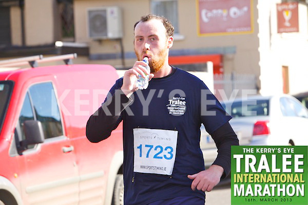 1723 Diarmuid Sugrue  who took part in the Kerry's Eye, Tralee International Marathon on Saturday March 16th 2013.