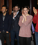 Idina Menzel and company during the Broadway Opening Night  AEA Gypsy Robe Ceremony honoring Curtis Holbrook for  'IF/THEN' at the Richard Rodgers Theatre on March 30, 2014 in New York City.