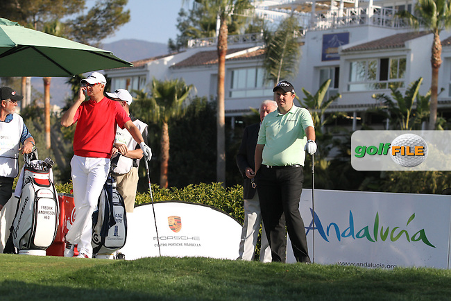 Shane Lowry (IRL) on the 1st tee on Day 3 of the 2012 Open de Andalucia Costa del Sol at Aloha Golf Club, Marbella, Spain....(Photo Jenny Matthews/www.golffile.ie)