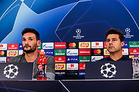 Head Coach of Tottenham Hotspur, Mauricio Pochettino and goalkeeper Hugo Lloris, attend a press conference ahead of the UEFA Champions League match against Olympiacos FC, in Karaiskaki Stadium in Piraeus, Greece. Tuesday 17 September 2019