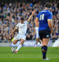 George Ford of Bath Rugby kicks for the posts. European Rugby Champions Cup quarter final, between Leinster Rugby and Bath Rugby on April 4, 2015 at the Aviva Stadium in Dublin, Republic of Ireland. Photo by: Patrick Khachfe / Onside Images