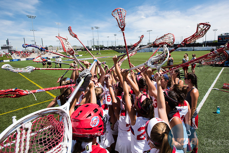 21 MAY 2016:  The Division II Women's Lacrosse Championship is held at the Regency Athletic Complex on the Metro State University campus in Denver, CO.  Florida Southern defeated Adelphi 8-7 for the national title.  Brett Wilhelm/NCAA Photos