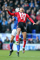 Tyler Walker of Lincoln City and Myles Kenlock of Ipswich Town during Ipswich Town vs Lincoln City, Emirates FA Cup Football at Portman Road on 9th November 2019