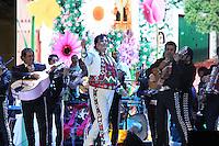 Juna Grabriel durante una presentacion en el Zocalo de la Ciudad de Mexico en la noche del Grito de indenpendecia.<br /> 15,septiembre ,2013.<br /> (C.Marquez*&copy;NortePhoto)