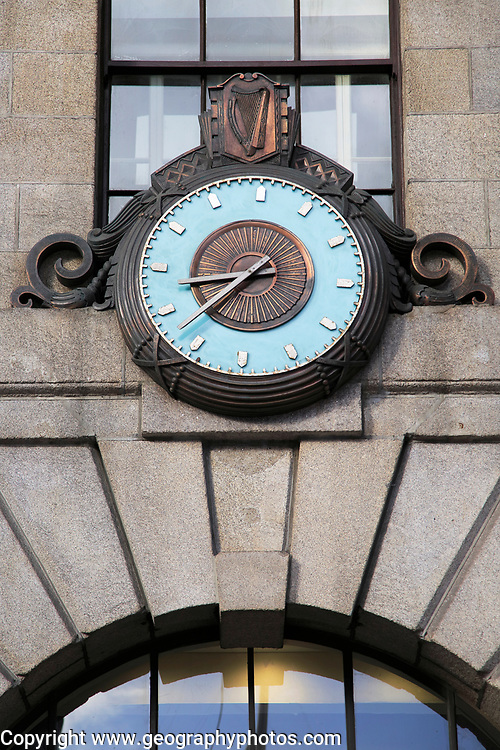 Historic clock outside General Post Office building, Dublin Ireland, Republic of Ireland