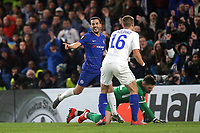 Pedro scores Chelsea's opening goal and celebrates during Chelsea vs Dynamo Kiev, UEFA Europa League Football at Stamford Bridge on 7th March 2019