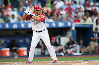 11 March 2009: #7 Ivan Rodriguez of Puerto Rico is seen at bat during the 2009 World Baseball Classic Pool D game 6 at Hiram Bithorn Stadium in San Juan, Puerto Rico. Puerto Rico wins 5-0 over the Netherlands