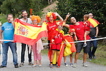 Local fans during Stage 18 of the 2017 La Vuelta, running 169km from Suances to Santo Toribio de Li&eacute;bana, Spain. 7th September 2017.<br /> Picture: Unipublic/&copy;photogomezsport | Cyclefile<br /> <br /> <br /> All photos usage must carry mandatory copyright credit (&copy; Cyclefile | Unipublic/&copy;photogomezsport)