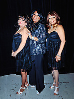 """05 October 2019 - Hamilton, Ontario, Canada.  The Shirelles with original lead singer Shirley Alston Reeves backstage at """"What A Night - Living Legends"""" at the FirstOntario Concert Hall.  Photo Credit: Brent Perniac/AdMedia"""