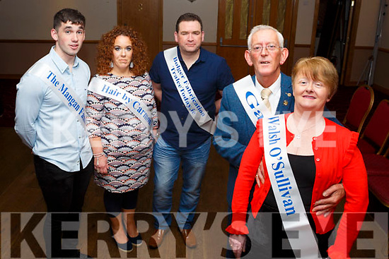 The contestants at the launch of the Kerins O'Rahilly Strictly Come Dancing fundraiser in the Clubhouse on Thursday night last. Front, Cllr Sam and Annie Locke, in the back l tor: Aiden Mangan, Carol Nyhan and Justin McCarthy,