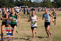 At the 2-mile mark, left to right: Sammy Laurenzo-Liberty North, Sarah Nicholson-Lafayette, Mia Jerman-Ste. Genevieve, Anna West-Lafayette, Maddy Brown-Parkway West, Tabitha Griffith-Farmington.