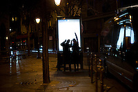 FRANCE, Paris:  People are looking for an alternative way to go home during the attack in Paris, November 18, 2015. Shootings and blasts leave at least 120 dead in Paris.