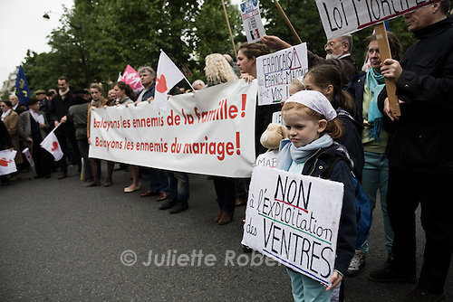 Manifestation de l'Institut Civitas contre le mariage gay, le 26 mai 2013 a Paris
